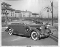 1935 Packard phaeton in front of the Detroit Yacht Club