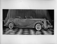 1935 Packard sport phaeton, seven-eights right side view, top folded