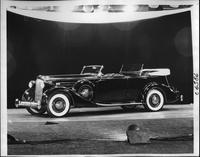 1935 Packard sport phaeton, seven-eights left side view, top folded