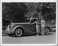1935 Packard coupe with Mrs. Marcus Oliver and John S. Jackson