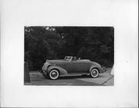 1935 Packard convertible coupe used in national advertising campaign