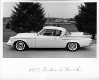 1958 Packard hawk, left side view, parked on drive