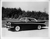 1958 Packard sedan, nine-tenths left side view, parked on drive