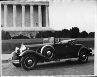 Nancy Sheridan of the National Theatre Players in 1931 Packard convertible coupe