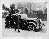 Opera star Lawrence Tibbett with 1935 Packard all weather cabriolet