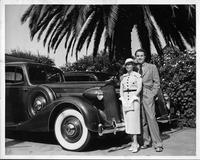 Two 1936 Packards, pictured with their owners Mr. & Mrs. Onslow Stevens