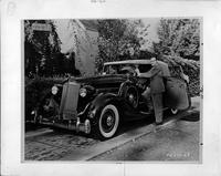 Bob Hope with his 1936 Packard convertible victoria