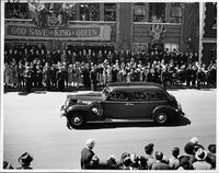 1939 Packard super eight in reception parade during King George VI & Queen Elizabeth's visit to Canada, spring 1939