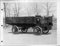 1905 Packard truck, right side view, parked on road