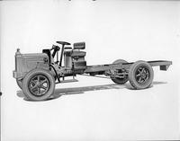 1924 Packard truck and chassis, nine-tenths left side view