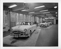 1954 Packards on display in factory showroom