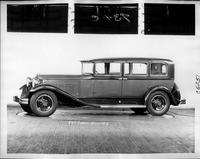 1931 Packard prototype sedan limousine, nine-tenths left side view