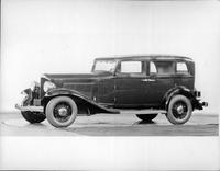 1932 Packard prototype sedan, nine-tenths left side view