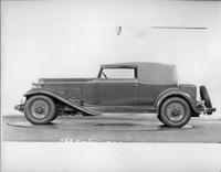 1932 Packard prototype convertible victoria, left side view, top raised