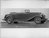 1932 Packard prototype convertible victoria, nine-tenths right side view, top folded