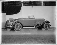 1932 Packard prototype coupe roadster, three-quarter right rear view, top folded