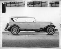 1932 Packard prototype touring sedan, right side view, top raised