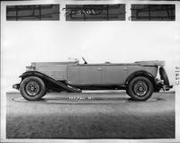1932 Packard prototype touring sedan, left side view, top folded