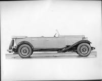1932 Packard prototype touring sedan, right side view, top folded