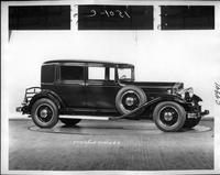 1932 Packard prototype club sedan, nine-tenths right side view