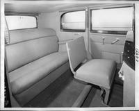 1932 Packard prototype sedan limousine, view of rear interior from right