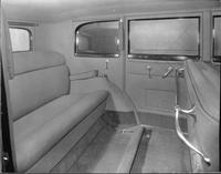 1932 Packard prototype sedan, view of rear interior from right