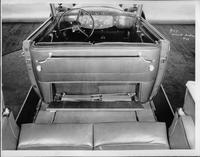 1932 Packard prototype convertible sedan, view of interior from rear