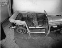 1932 Packard prototype convertible sedan, view of interior from right elevation