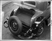 1932 Packard prototype coupe, view of trunk space