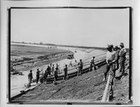 Construction of the track at Packard proving grounds