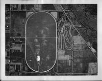 1939 aerial view of the Packard proving grounds