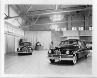 Two 1949 Packard sedans on display for Golden Anniversary