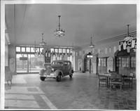 Packard dealership showroom, Grosse Pointe, Mich., 1935