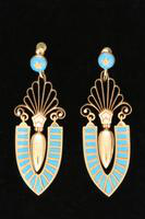 Earrings, about 1870
