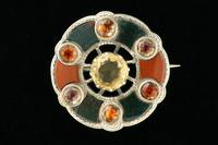 Scottish Pebble Brooch, about 1860