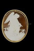 Cameo Pin, about 1860