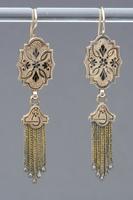 Earrings, about 1870