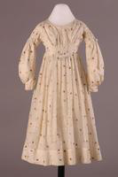 Girl's Muslin Print Dress, about 1840