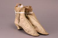 Satin Boots, about 1865