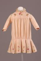 Embroidered Pink Silk Taffeta Girl's Dress, about 1905