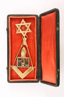 Masonic Pin with Case, 1865