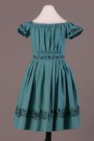 Short Sleeve Wool Child's Embroidered Dress, 1840-1850