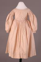Girl's Long Sleeve Print Dress, about 1840