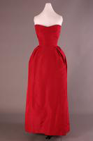 Strapless Silk Evening Gown with Stole, 1952