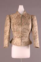 Three Quarter Length Silk Jacquard Evening Jacket, 1935-1939