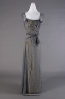 Navy Blue Print Crepe Evening Dress, 1933-1935