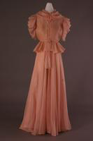 Silk Organza Sleeveless Evening Dress and Jacket, 1937