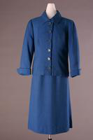 Two Piece Blue Linen Suit, 1953-1954