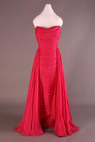 Fuschia Silk Chiffon Evening Dress, 1953-1955