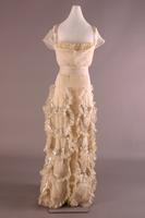 White Silk Organza Evening Dress, 1932-1933